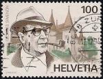 Sellos de Europa - Suiza -  Georges Simenon