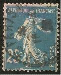 Sellos del Mundo : Europa : Francia : roulette semeuse type 1A, diamant bleu clair