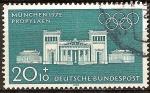 Sellos de Europa - Alemania -  Juegos Olímpicos de Munich en (Propileos)