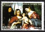 Sellos del Mundo : America : Guyana : 500 Aniversario del Nacimiento de Tiziano