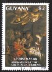 Sellos del Mundo : America : Guyana : Adoration of the Shephards: (Rubens)