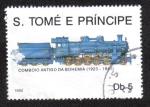 Sellos del Mundo : Africa : Santo_Tomé_y_Principe : Tren Antiguo de Bohemia 1923-1941