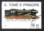 Sellos del Mundo : Africa : Santo_Tomé_y_Principe : Tren de La Republica Federal de Alemania 1951-1956