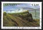 Sellos del Mundo : America : Guyana : Class Pacific Locomotive No. 34051 Winston Churchill