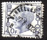 Sellos del Mundo : Europa : Bélgica : King Baudouin Type Elström - 40 BEF