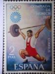 Sellos de Europa - España -  Ed. 2099 -Holimpiada de Munich 1972- Halterofilia.