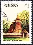 Sellos de Europa - Polonia -  POLONIA -  Iglesias de madera del sur de Małopolska