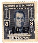 Sellos del Mundo : America : El_Salvador : General Ramon Belloso Jefe de los Ejercitos aliadobusteross Contra los Fili