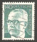 Sellos de Europa - Alemania -  516 D - Presidente G. Heinemann