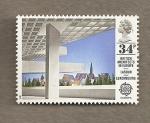 Sellos de Europa - Reino Unido -  Arquitectos Británicos en Europa