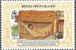 Sellos del Mundo : America : Islas_Virgenes : SOCIEDADES  PRE-COLOMBINAS  Y  SUS  COSTUMBRES.  DESCANSO  EN  HAMACA.