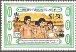 Sellos del Mundo : America : Islas_Virgenes : SOCIEDADES  PRE-COLOMBINAS  Y  SUS  COSTUMBRES.  FAMILIA  ARAWAK.