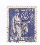 Sellos del Mundo : Europa : Francia :  Paz con ramo de olivo