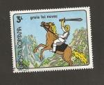 Sellos de Europa - Rumania -  Jinete con espada