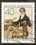 Sellos de Europa - Alemania -  150a Aniv de la muerte de Wilhelm Hauff (poeta y novelista).