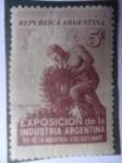 Sellos de America - Argentina -  Exposición de la Industria Argentina-Día de la Industria 6 de Dic.