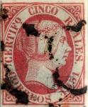Sellos del Mundo : Europa : España : Scott#9 5 reales 1851