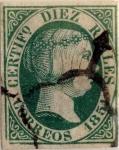 Sellos del Mundo : Europa : España : Scott#11 10 reales 1851