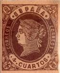 Sellos del Mundo : Europa : España : 4 cuartos 1862