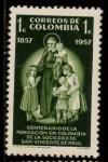 Sellos del Mundo : America : Colombia : cent. fundación s. vicente de paul