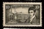 Sellos del Mundo : America : Colombia : descubrimiento de la hipsometría