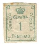 Sellos del Mundo : Europa : España : 1 centimo