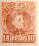 Sellos del Mundo : Europa : España : 10 céntimos 1901