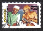 Sellos del Mundo : Africa : Zambia : Mahatma Gandhi con Nehru 1946