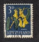 Sellos del Mundo : Oceania : Nueva_Zelanda : Kowhai (Sophora microphylla)