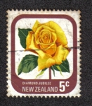 Sellos del Mundo : Oceania : Nueva_Zelanda : Rose Diamond Jubilee
