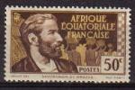 Sellos del Mundo : Europa : Territorios_Antárticos_Franceses : AFRICA ECUATORIAL FRANCESA 1947 SCOTT 48 SELLO NUEVO PIERRE SAVORGNAN DE BRAZZA