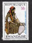 Sellos del Mundo : Africa : Rwanda : Mujer aguador, Túnez
