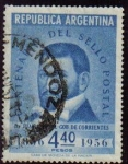Sellos del Mundo : America : Argentina : ARGENTINA 1956 Scott 653 Sello Cent. del Sello Juan G. Pujol Usado Michel 641 Yvert563