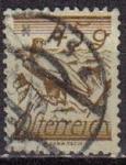 Sellos del Mundo : Europa : Austria : AUSTRIA 1925 Scott 307 Sello Pájaros Aves Aguila Blanca usado Michel 455 Yvert338 Osterreich Autrich