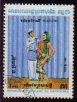 Sellos de Asia - Camboya -  CAMBOYA 1983 Scott 402 Sello Folklore Camboyano Matasello de favor Preobliterado Michel 478 Cambodia