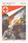 Sellos de America - Nicaragua -  Terremoto 1972-Cruz Roja
