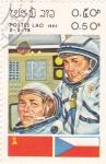 Sellos de Asia - Laos -  Astronautas -Aeronáutica