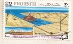 Sellos del Mundo : Asia : Emiratos_Árabes_Unidos :  Construcion deposito de petroleo en el mar