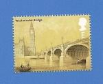 Sellos de Europa - Reino Unido -  ARQUITECTURA - Puente de Westminster -Big Ben (Londres)
