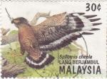 Sellos de Asia - Malasia -  Ave- Lang berjambul
