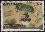 Sellos del Mundo : America : Guyana : French Testu-Brissy Ascend on Horse-Back in 1798