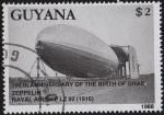 Sellos del Mundo : America : Guyana : 150º Aniversario del Graf Zeppelin