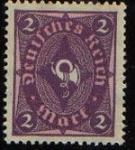 Sellos del Mundo : Europa : Alemania : Deutsches Reich 1922 Scott 150 Sello Nuevo ** Post Horn 2 Alemania Germany