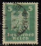 Sellos del Mundo : Europa : Alemania : DEUTSCHES REICH 1924 Scott331 Sello Serie Aguila Alemania Mitchel357