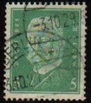 Sellos del Mundo : Europa : Alemania : DEUTSCHES REICH 1931 Scott368 Sello Presidente Paul Von Hindenburg Alemania Michel455