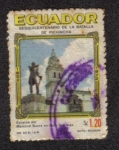 Sellos del Mundo : America : Ecuador : Sesquicentenario de la Batalla de Pichincha