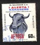 Sellos del Mundo : America : El_Salvador : !Alerta Ganadero!
