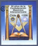 Sellos de America - Chile -  50 Años Confederacion Masonica Interamericana