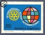 Sellos del Mundo : America : Argentina : 75 Aniversario Rotary Internacional