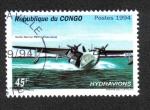 Sellos del Mundo : Africa : República_del_Congo : Hidroaviones